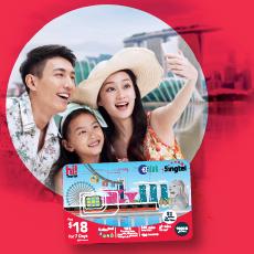 Singtel hi!Tourist EZ-Link SIM Card
