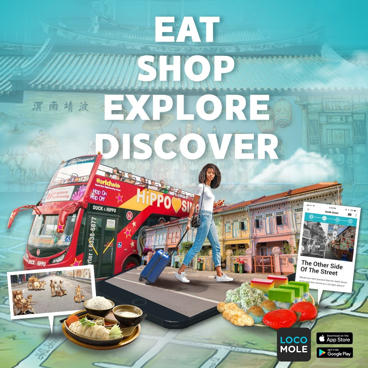 LocoMole Self-Guided Walking Tour App - The Singapore